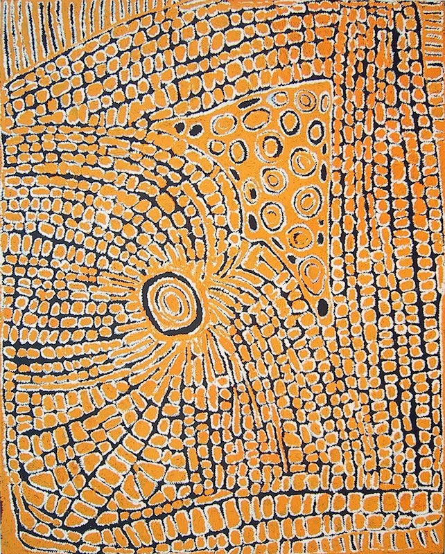 View works by Tjunkiya  Napaltjarri